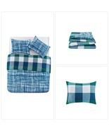 Full Bedding Comforter Set Child Dorm Boys Blue 3 Piece Bedroom Modern D... - £51.38 GBP