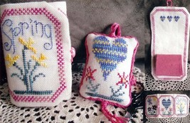 Spring Needlebook & Fob cross stitch chart From The Heart  - $7.20