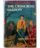 Hardy Boys 32 Crisscross Shadow 1957B-8 Franklin W. Dixon hcdj Orange Gr... - $12.00