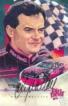 1993 KENNY WALLACE #40 DIRT DEVIL NASCAR POSTCARD SIGNED - $11.75