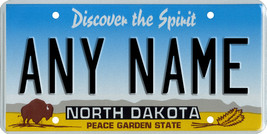 Custom Personalized North Dakota golf cart, mobility scooter license plate - $12.99
