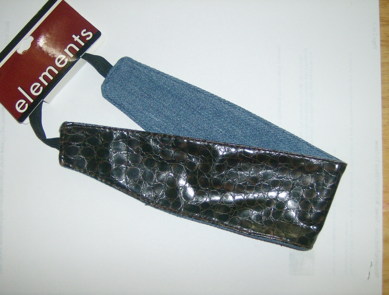 Element Denim fashion headbands set 1 black and 1 brown