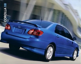 2008 Toyota COROLLA sales brochure catalog 08 US S LE - $6.00