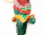 Parrot Multi-Color Keychain Rhinestone Crystal Cute Animal Bird Charm #MCK11