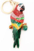 Parrot Multi-Color Keychain Rhinestone Crystal Cute Animal Bird Charm #M... - $18.17