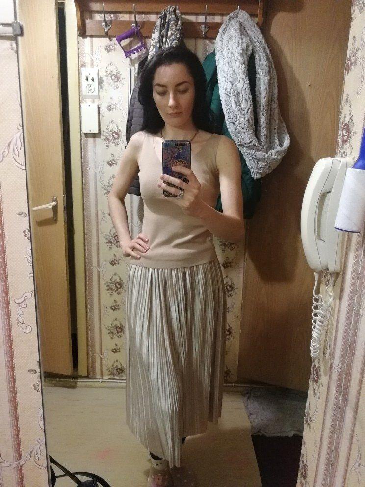 Silver Gold Pleated Skirt Vintage High Waist Long Metallic image 11