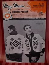 Vintage Pueblo Indian Sweater Knitting Pattern Mary Maxim  - $14.99