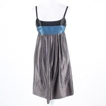 Gray blue color block BCBG MAX AZRIA spaghetti strap empire waist pleat ... - $19.99