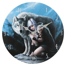 MDF Protector  Wolf Wall Clock 13830 - $18.90