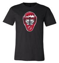 New Jersey Devils Goalie Mask front logo Team Shirt jersey shirt - $12.19+