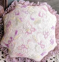 La Tulipe Pinkeep cross stitch chart From The Heart  - $3.60