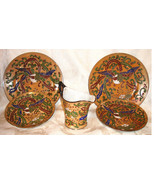 6 Nippon Raised Relief Lusterware Pieces - Made in Japan - $18.00