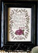Antique Rose Sampler cross stitch chart From The Heart  - $3.60