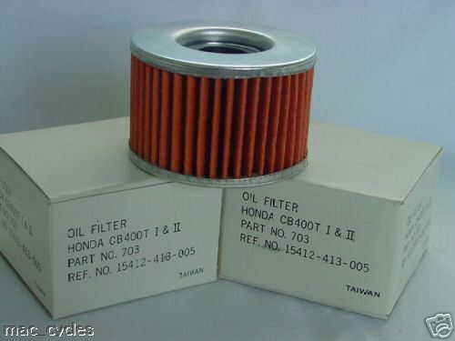 Honda Oil Filter TRX650FA TRX650FGA 2 pcs 2003-2005 New *413*