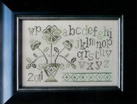 Flower Pot Sampler cross stitch chart From The Heart  - $3.60