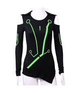 Tron legacy superhero t shirt cosplay woman fashion luminous t shirt costume new2 thumbtall