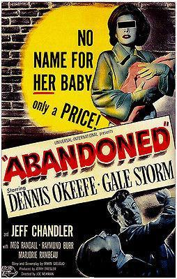 Primary image for Abandoned - 1949 - Movie Poster