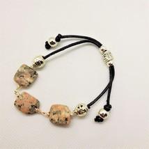 Pink and Gray Quartz Slip Knot Bracelet - $20.00