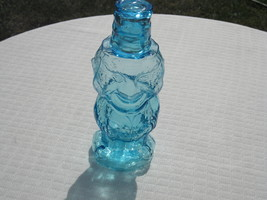 Indiana Glass Tiara Exclusives Blue Jolly Mountaineer Decanter, Shot Gla... - $62.00