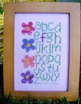 F Is For Flower cross stitch chart From The Heart  - $3.60