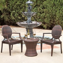 All Weather Outdoor Patio Set Pool Balcony Garden Furniture Resin Wicker... - $379.00