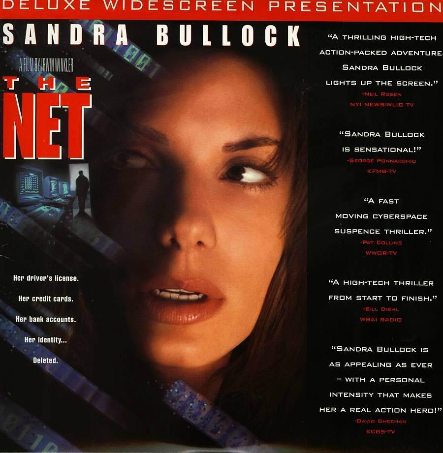 NET, THE LTBX SANDRA BULLOCK LASERDISC RARE