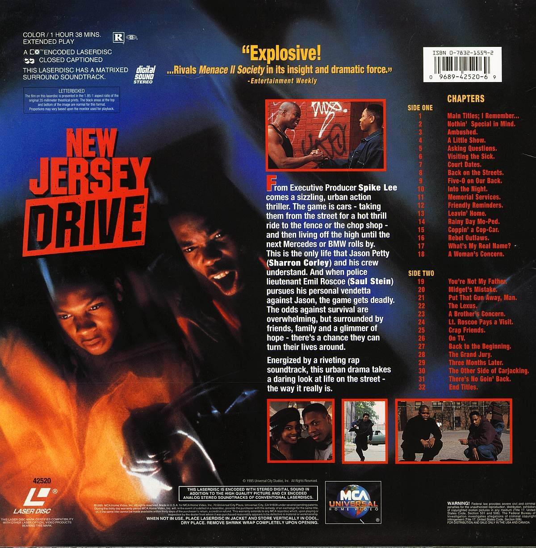 NEW JERSEY DRIVE LTBX  LASERDISC RARE