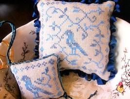 Blue Bird Pinkeep cross stitch chart From The Heart  - $3.60