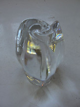 Rose bud, Tulip bulb glass paperweight, clear gardening, flower bud - $42.75