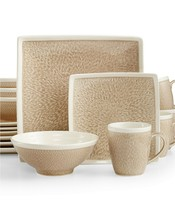Sango 16 Piece Vega Dinnerware Set - Taupe Beige - Two Chips Used Good o... - $79.20