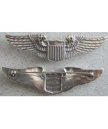 WWII Pilot Wing Sterling Luxenberg 3in pin back       - $90.00
