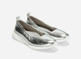 Cole Haan 3.ZEROGRAND Rouched Slip-on, Silver, Size 10B, NIB - £130.32 GBP
