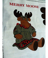 "Daisy Kingdom  Christmas Merry Moose Fabric Panel 24"" Tall Stuffed Moose... - $12.86"