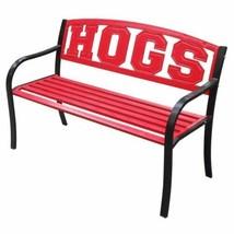 NEW Arkansas Razorbacks Hogs Garden Bench Park Lawn Patio Steel Lacquer ... - $191.96