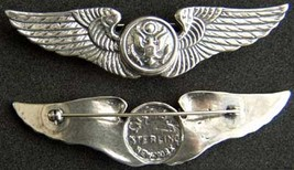 WWII Aircrew Wing Sterling Luxenberg 3inch 1st pattern          - $90.00