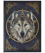 Artist Lisa Parker The Wild One Wolf & Celtic Knot Embossed Journal By L... - $15.39