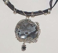 Sterling Silver Nested Geode Pendant Necklace - $40.99