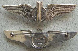 WWII Luxenberg Bombarider Wings 3 inch sterling       - $90.00