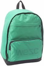 WeSC We are Superlative Conspiracy Cullen Chlorophyll Green Backpack School Bag image 1