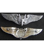 WWII Luxenberg Aerial Gunner Wings 3 inch sterling  PB     - $90.00