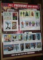 Statue/bust/figure poster: X-Men/JLA/Shazam/Wolverine/Superman/Hawkman/DC/Marvel - $40.00