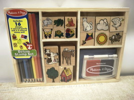 Melissa & Doug 1193 Deluxe Stamp Set Ages 4+ New - $15.88