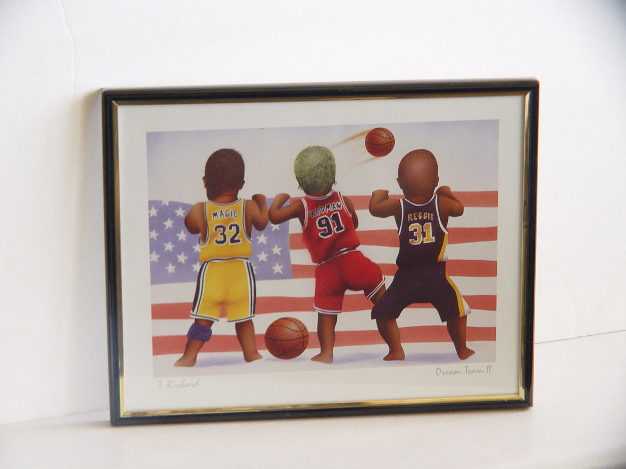 "Cute T. Richard ""Dream Team II"" Basketball Theme Print."