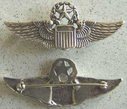 WWII Luxenberg 2 inch Command Pilot Wing Sterling  - $70.00