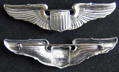 Primary image for WWII Luxenberg AECO Pattern  Pilot Wing Sterling