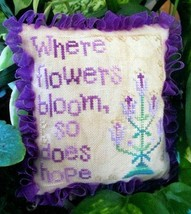 Hope Blooms cross stitch chart From The Heart  - $3.60