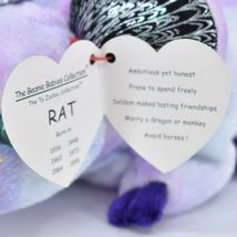 2000 TY Beanie Baby Zodiac Year of the Rat Retired Beanbag Plush Toy Doll image 6