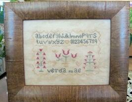 Verda Mae Sampler cross stitch chart From The Heart  - $7.20
