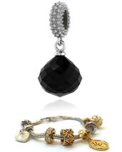 Endless Jewelry JLo Black Mysterious Drop Silver 3301-2 For Endless Silver Charm image 1