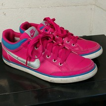 Nike Womens Capri 3 Shoes Size 7.5 Pink Low Top Leather Fashion Sneaker ... - $20.78